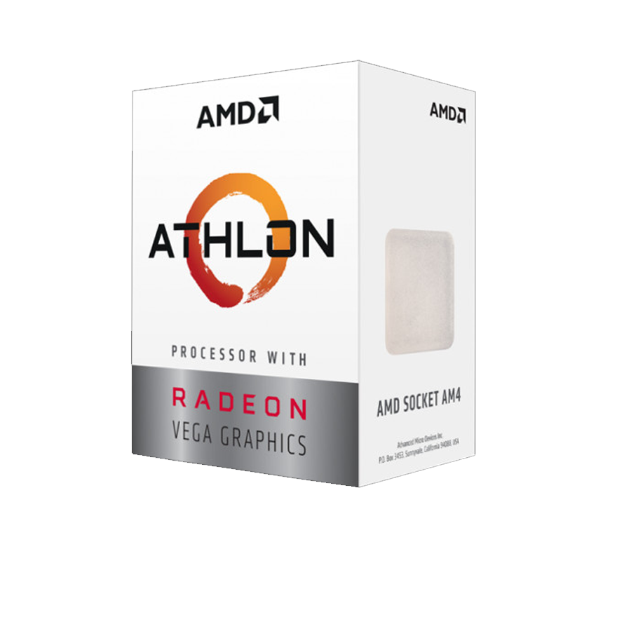 Bộ Vi xử lý AMD Athlon 200GE - AM4 2x3.2GHz/5MB cache, 14nm, 35W, DDR4 2667Mhz, Radeon™ Vega 3 Graphics
