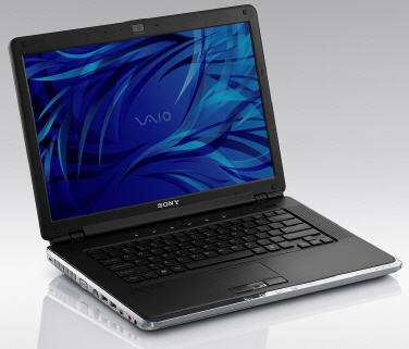 Laptop Sony Vaio VGN-CR390NAB (Intel Core 2 Duo T7250 2GHz, 1GB RAM, 120GB HDD, VGA Intel GMA X3100, 14.1 inch, Windows Vista Business)