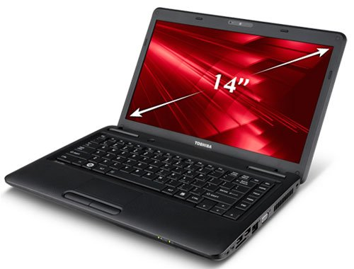 Laptop Toshiba Satellite C640-1027U (Intel Core i3-380M 2.53GHz, 2GB RAM, 320GB HDD, VGA Intel HD Graphics, 14 inch, PC DOS)
