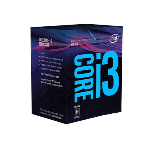 CPU Intel Core i3-8100 3.6Ghz / 6MB / 4 Cores, 4 Threads / Socket 1151 v2 (Coffee Lake)
